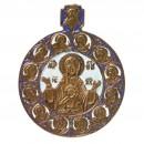 Nr. 67 - Encolpion; Panaghia; (Toute-Sainte) (10,5 x 8,7 cm)
