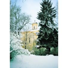 36. L'église byzantine dans la neige
