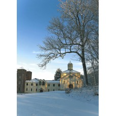 41. L'église byzantine, l'entrée du monastère et les clochers